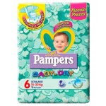 Pannolini Pampers Baby Dry ExtraLarge 15-30 Kg Misura 6