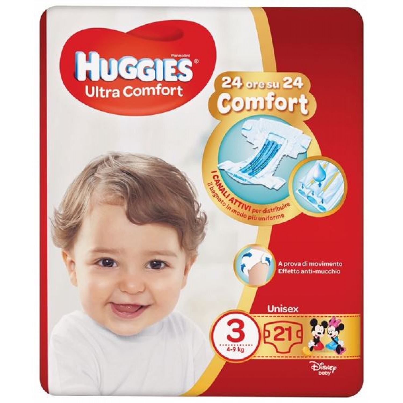 Image of Huggies Ultra Comfort Luiers 4-9 kg maat 3 (21 stuks)