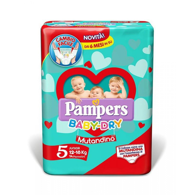 Image of Pampers Baby Dry Luiers 12-18 kg Höschen maat 5 (14 stuks)