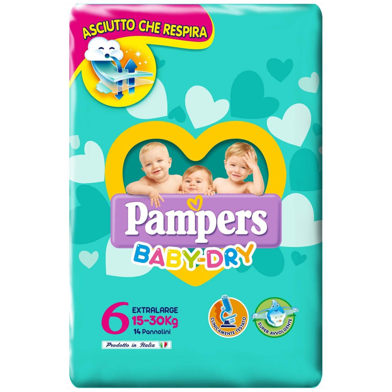 Image of Pampers Baby Dry Luiers Extragroß maat 615-30kg 14 stuks