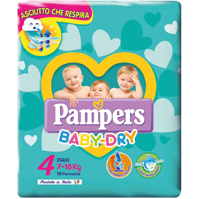 Image of Pampers Baby Dry Luiers maat 4-7, 18kg, 19stuks