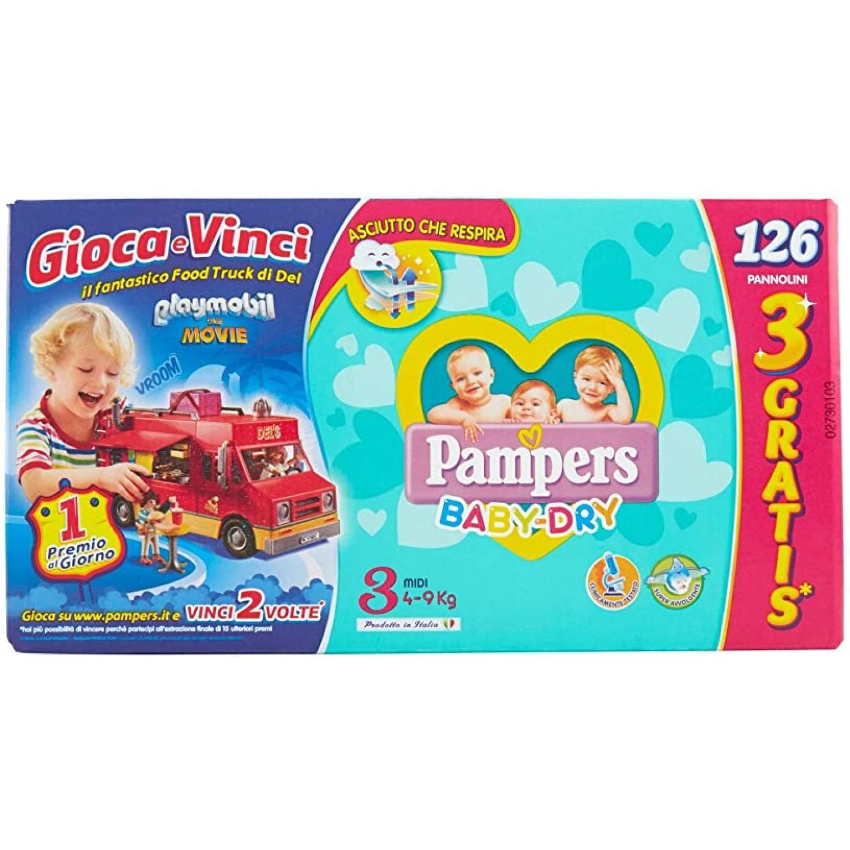 Image of Pampers Baby Dry Midi Luiers, maat 3, 126 stuks Megapack