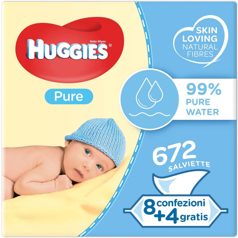 Image of Huggies Pure Cleansing Wipes Kit 12 Packungen mit 56 stuks