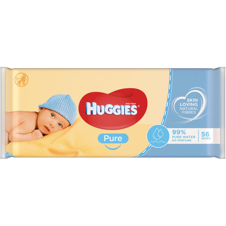 Image of Huggies Pure Cleansing Wipes 56 Stk