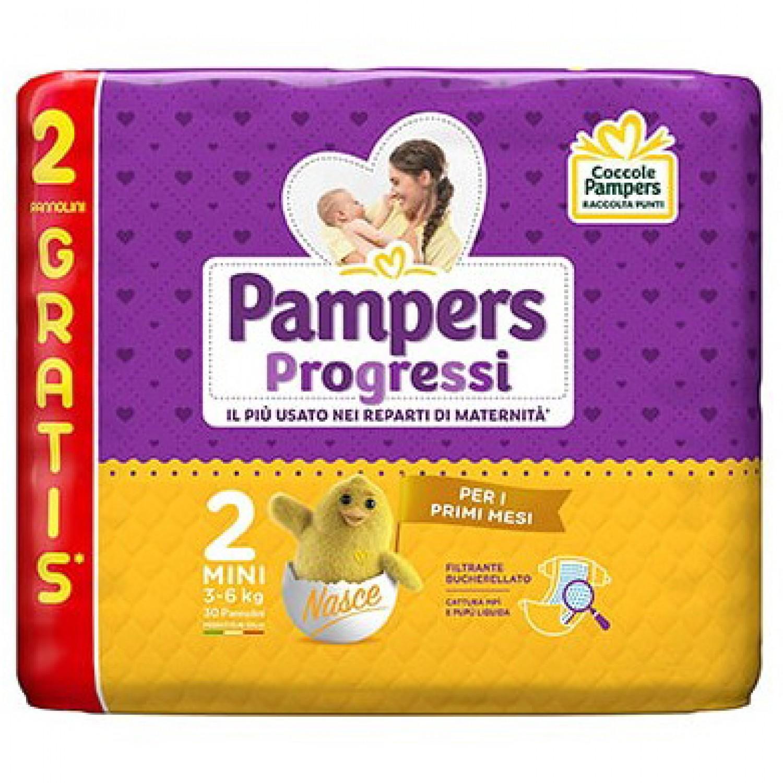 Image of Pampers Progressi – Baby-Windel-Windel maat 2, maat Mini, für Kinder