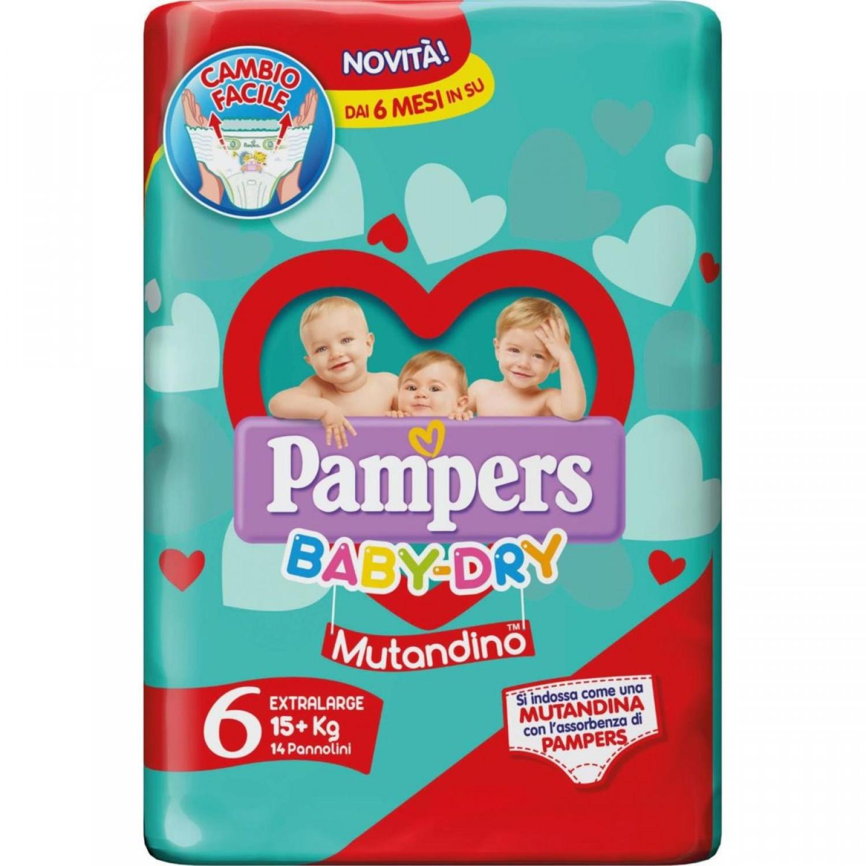 Image of Pampers Baby Dry Luiers 15+ kg Unterwäsche maat 6 (14 stuks)